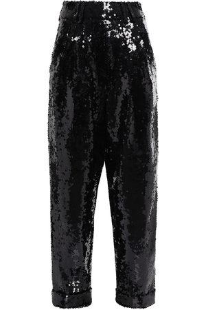 Balmain Woman Sequined Tulle Straight-leg Pants Size 34