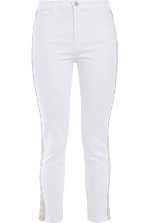 J Brand Woman Alana Grosgrain-trimmed High-rise Skinny Jeans Size 23