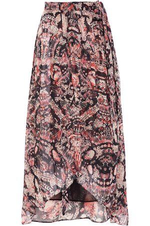 IRO Women Printed Skirts - Woman Deroie Asymmetric Printed Crepon Wrap Skirt Size 36