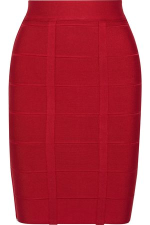 Hervé Léger Hervé Léger Woman Bandage Skirt Crimson Size L