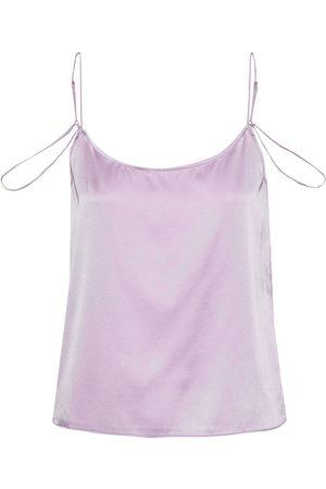 Kiki de Montparnasse Woman Amour Silk-charmeuse Camisole Lavender Size L