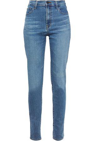J Brand Woman Carolina Faded High-rise Skinny Jeans Mid Denim Size 26
