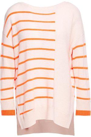 Duffy Woman Striped Cashmere Sweater Pastel Size L