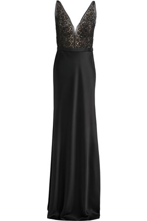 Catherine Deane Woman Mandy Lace-paneled Satin Gown Size 10