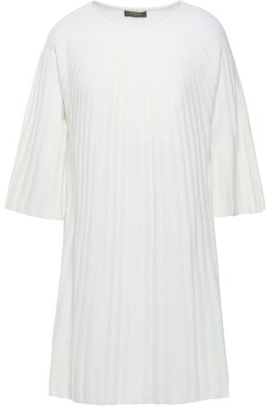 N.PEAL Woman Ribbed Cashmere Tunic Ivory Size S