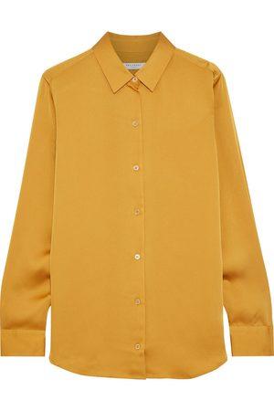 Equipment Woman Essential Satin Shirt Mustard Size XL