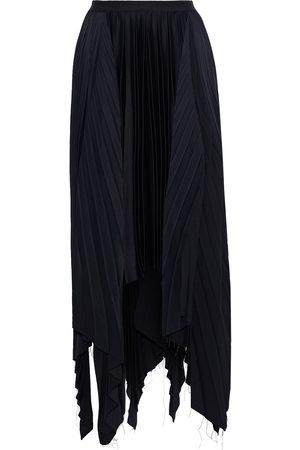 Khaite Woman Charlotte Asymmetric Pleated Crepe De Chine Skirt Size 0