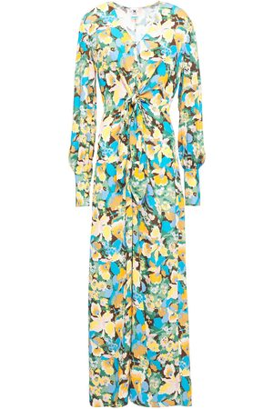 M Missoni Woman Knotted Printed Crepe Maxi Dress Size 38