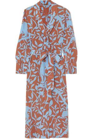 JOHANNA ORTIZ Woman Turn On Your Mind Printed Silk Crepe De Chine Robe Light Size 0