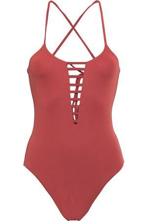 Melissa Odabash Woman Formentera Cutout Swimsuit Brick Size 14