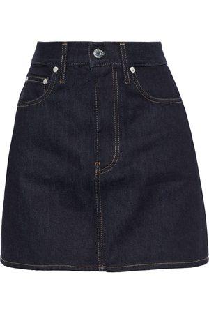 Helmut Lang Woman Femme Hi Denim Mini Skirt Dark Denim Size 24