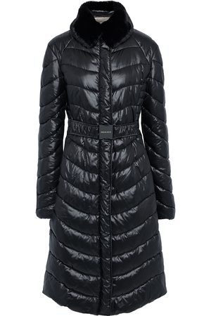 EMILIO PUCCI Women Coats - Woman Faux Fur-trimmed Quilted Shell Coat Size 42