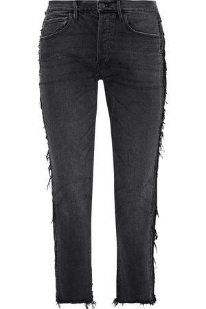 3x1 Woman W3 Cora Cropped Distressed High-rise Straight-leg Jeans Size 29