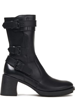 ANN DEMEULEMEESTER Woman Buckled Leather Ankle Boots Size 35