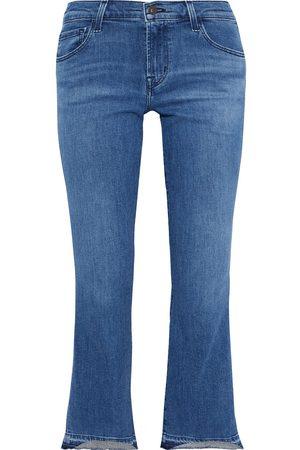 J Brand Woman Selena Faded Mid-rise Kick-flare Jeans Size 24