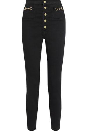 J Brand Women High Waisted - Woman Sabine Embellished High-rise Skinny Jeans Size 23