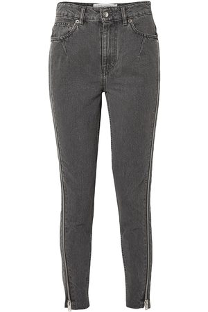 IRO Women High Waisted - Woman Essey Zip-embellished Frayed High-rise Skinny Jeans Dark Size 24