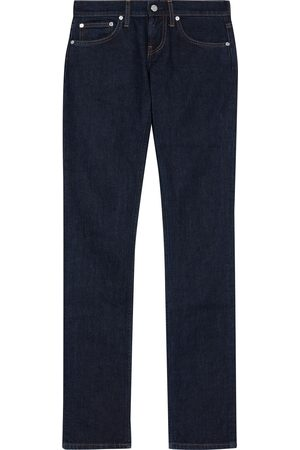 Helmut Lang Woman Femme Lo Low-rise Slim-leg Jeans Dark Denim Size 24