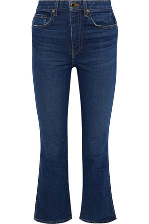 Khaite Woman Benny Mid-rise Kick-flare Jeans Dark Denim Size 24