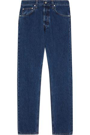 Helmut Lang Women High Waisted - Woman Masc Hi High-rise Straight-leg Jeans Mid Denim Size 24
