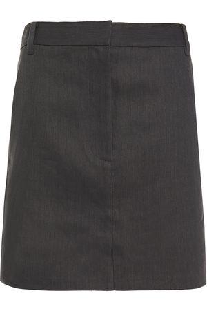 tibi Women Mini Skirts - Woman Twill Mini Skirt Dark Size 0