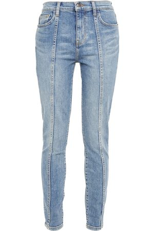 Current/Elliott Woman The Seamed High Waist Ankle Skinny High-rise Skinny Jeans Mid Denim Size 23