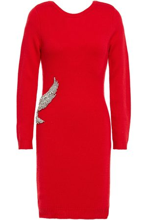 Bash Woman Oia Crystal-embellished Wool And Cashmere-blend Mini Dress Size 0