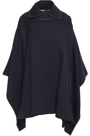Roland Mouret Woman Alpaca And Wool-blend Twill Cape Navy Size M