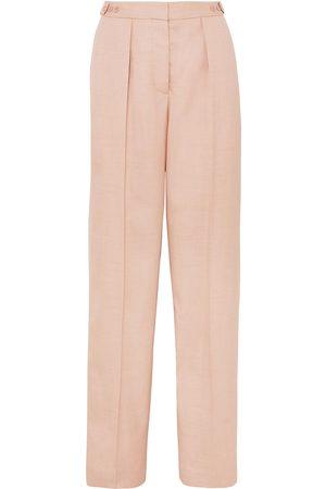 Stella McCartney Woman Katlyn Pleated Canvas Wide-leg Pants Blush Size 44