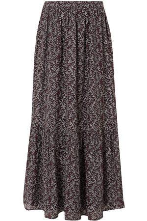 Vanessa Bruno Woman Gibson Gathered Printed Jacquard Maxi Skirt Burgundy Size 34