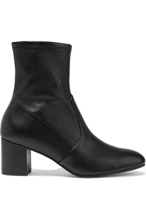 STUART WEITZMAN Woman Siggy 60 Stretch-leather Sock Boots Size 34.5