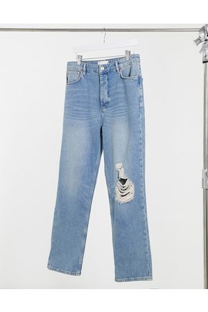ASOS Dad jeans in vintage mid 90s wash with knee rip