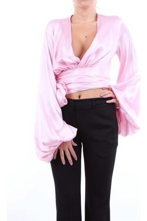 ALEXANDRE VAUTHIER Long sleeve Women Rose silk and elastane