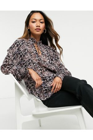 & OTHER STORIES & high neck ruffle blouse in pink floral