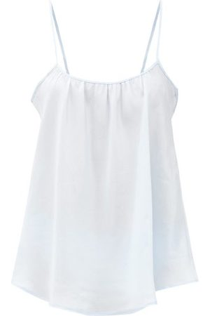 Loup Charmant Scoop-neck Silk Camisole Top - Womens - Light