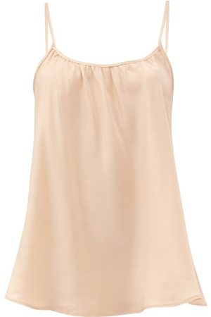 Loup Charmant Scoop-neck Silk Camisole Top - Womens - Nude