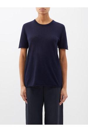 Joseph Women Sweats - Cashair Cashmere T-shirt - Womens - Navy