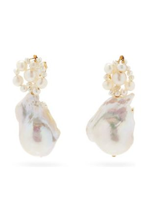 Completedworks Tra-la-la Pearl And 14kt Gold-vermeil Earrings - Womens - Pearl
