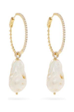 Mateo Women Earrings - Diamond, Pearl & 14kt Gold Earrings - Womens - Pearl