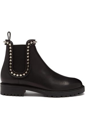 Christian Louboutin Women Ankle Boots - Crapahutta Spike Leather Chelsea Boots - Womens