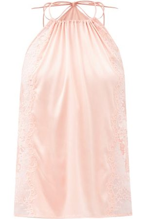 La Perla Women Halterneck Tops - Exotique Halterneck Silk-blend Camisole - Womens