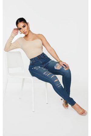 PRETTYLITTLETHING Women Skinny - Shape Vintage Extreme Ripped Stretch Skinny Jeans