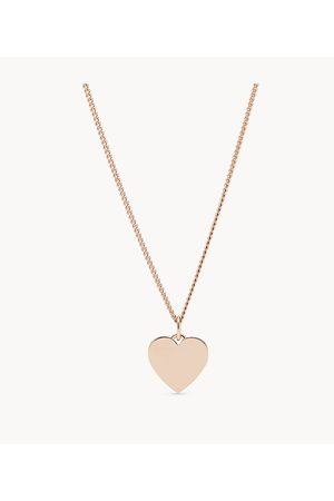 Fossil Women's Heart -Tone Stainless Steel Necklace