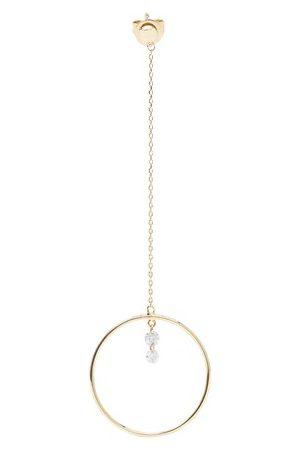 PERSÉE Single earring Pendule mini 2 diamonds
