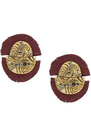 CAMILA KLEIN Women Earrings - Suede embellished earrings