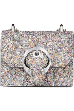 Jimmy Choo Women Clutches - Mini Paris glow-in-the-dark glitter bag - Metallic