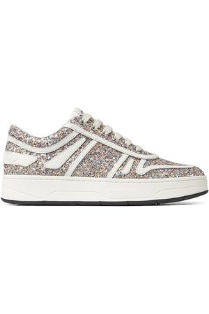 Jimmy Choo Hawaii F glow-in-the-dark glitter sneakers - Metallic