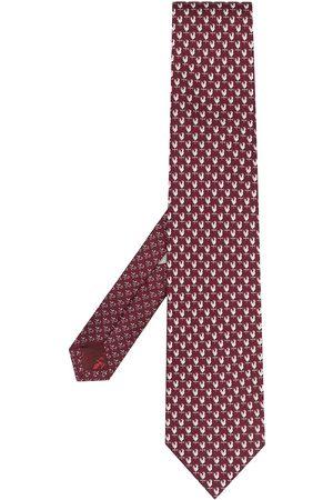 Salvatore Ferragamo Bird-print silk tie
