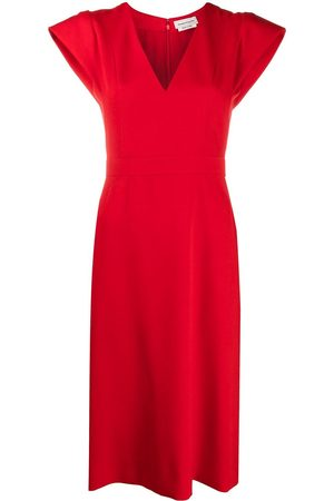 Alexander McQueen V-neck fitted dress
