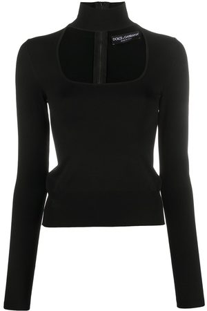 Dolce & Gabbana Roll-neck cut-out top